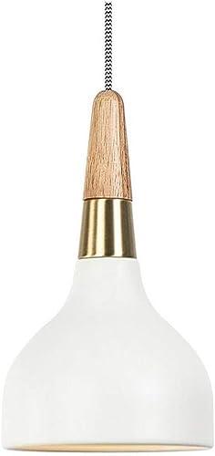 HBLJ Vintage Chandelierchandeliers, nordique moderne, simple tête, restaurant salon table de salle à hommeger bar bar lampes, 15  22 cm A ++ (couleur blanche)