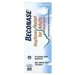 beconase nasal spray hay fever relief allergic rhinitis allergy allergies top best remedies