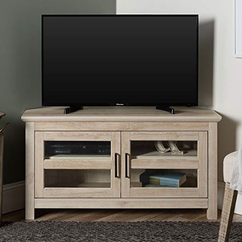 Home Accent Furnishings New 44 Inch Corner Television Stand - White Oak Color