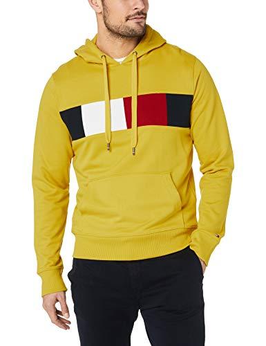 Tommy Hilfiger Herren Flag Chest Insert Hoody Sweatshirt, Gelb (Sulphur 716), Large (Herstellergröße:L)