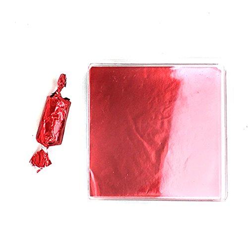 Leinen und Staubbeutel 250Folie Candy Wrappers für Pralinen, Bonbons, Lutscher, und Basteln 3x3 rot