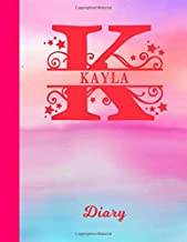 Kayla: Diary - Personalized First Name & Letter Initial Personal Writing Journal   Glossy Pink & Blue Watercolor Effect Cover   Daily Diaries for ...   Write about your Life, Goals & Interests