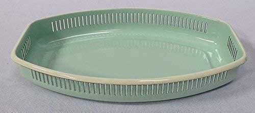 linoows Emaille Brotkorb, Brötchenkorb, Brotkörbchen im Retrostil, Pastell Mint