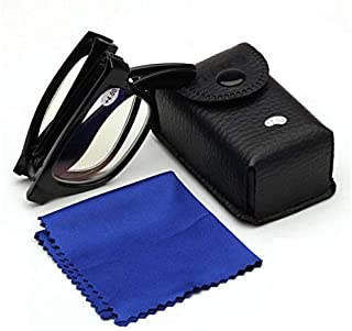 PC Progressive Multifocus Compact Folding Reading Glasses Readers with Leather Case
