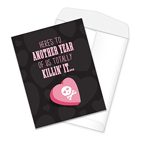 """Funny Large Anniversary Greeting Card / 8.5"""" x 11"""" Large Greeting Card/Killin' It Snarky Anniversary Card"""