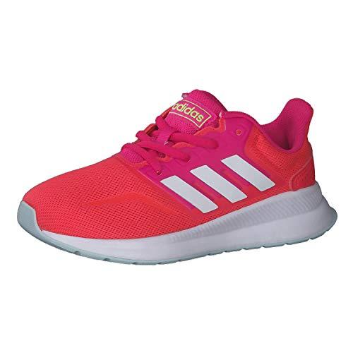 adidas Runfalcon Road Running Shoe, Shock Red/Footwear White/Shock Pink, 37 1/3 EU
