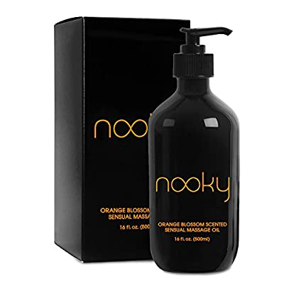 Nooky Orange Blossom Massage Oil. With Jojoba and Essential Oils. For Massaging 16 ounce.