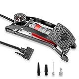 Heyner Germany Premium Pedalpower Pro Pompe à pied avec jauge 7 bar 100 psi Gonfleur de pneu de voiture ou vélo