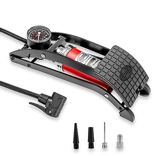 Pompe à pied Pedalpower Pro avec jauge 7 bar 100 psi de Heyner