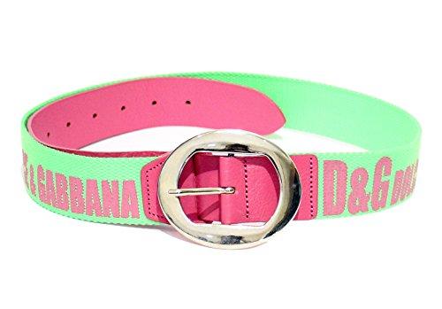 Dolce & Gabbana D&G CINTURA DONNA BICOLORE JC5FJ38068 9 col. Verde fluo- Rosa tg. 85 cm