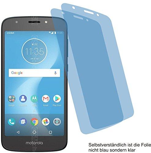 4ProTec I 2X Crystal Clear klar Schutzfolie für Motorola Moto E5 Cruise Bildschirmschutzfolie Displayschutzfolie Schutzhülle Bildschirmschutz Bildschirmfolie Folie