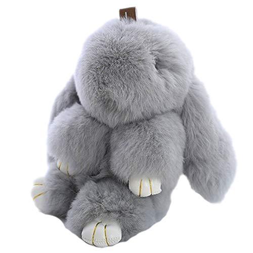 Snner Plush Bunny Portachiavi per Le Donne Pom Poms Portachiavi Deposito Borsa Giocattoli Bambola Bella Portachiavi per Ragazze