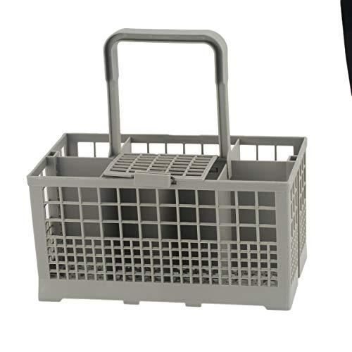 Greatangle 1pcs Universal Lavavajillas Cesto Cubiertos Caja de Almacenamiento Ayuda de Cocina Repuestos Lavavajillas Caja de Almacenamiento Gris