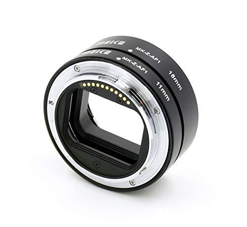 Automatik-Makro-Zwischenringe Meike MK-Z-AF für Nikon Z-Bajonett Systemkameras (Z 6, Z 7, Z 50) Set aus 2 Ringen (11mm und 18mm)