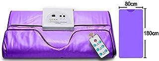 Ayanxh Sauna portátil Manta calefactora Masaje Corporal y SPA Faja Reductora de Peso Máquina Delgada para Drenaje linfático para Mejorar la Salud del Cuerpo, púrpura