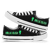 SXDE Billie Eilish Zapatos de Lona para Mujer Zapatillas Deportivas para Gimnasio Zapatos de Lona cómodos y Ligeros Zapatos Planos con Cordones-D_37