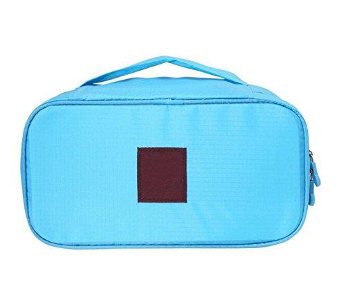 Paquet De Finition Soutien-gorge Sous-vêtements Sous-vêtements Multifonction Pochette Voyage Forfait D'admission Sac De Lavage,Blue