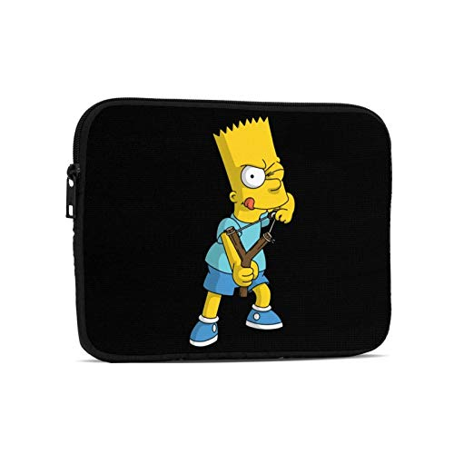 Oxmall The-Simpsons-Bart Simpson Waterproof Laptop Sleeve with Handle Handbag Clutch Bag Tablet Protective Pouch for Ipad 9.7 Inch