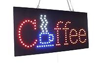 コーヒーサイン、スーパーBirght高品質LEDオープンサイン、ストアサイン、ビジネスサイン