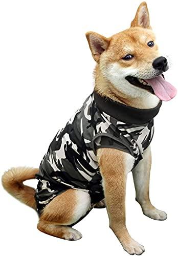 Moking Ropa de rehabilitación para perros, ropa de protección para mascotas, ropa de recuperación postoperatoria para gatos y perros (L)
