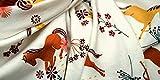 Jersey-Stoff Baumwolle Meterware Pferde | Stoffe zum Nähen