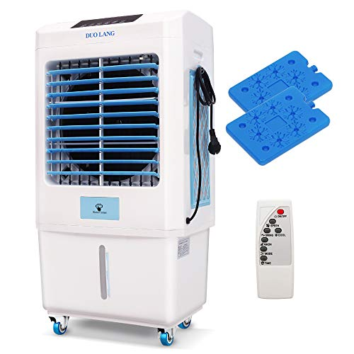 DUOLANG 2059 CFM Outdoor Indoor Portable Evaporative Cooler Swamp Cooler with Tower Fan & Air Conditioner &Humidifier&Blower for 323 Square Foot,Remote Control, DL-C3500