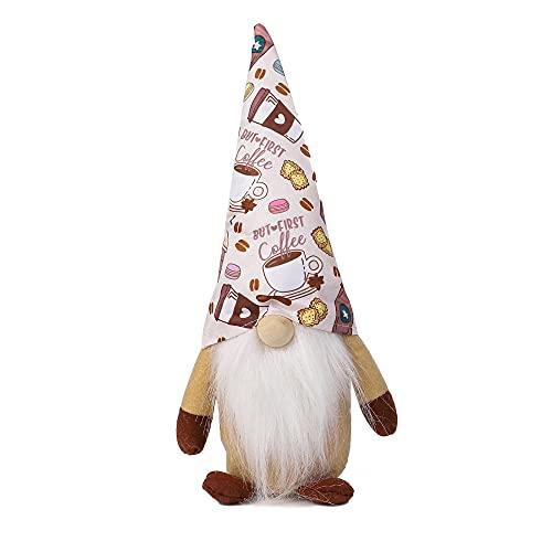 Estilo de Moda Viejo Hombre Muñeca Café Rudolph Muñeca de Pie sin Rostro Adecuado para Dormitorio Familiar Sala de Estar Jardín