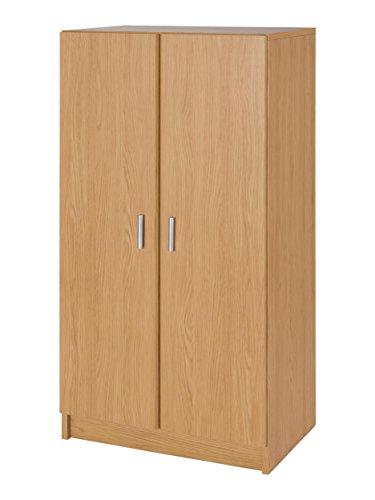 MUEBLECASA - Armario zapatero KIT con 2 puertas y estantes, hasta 18 pares, madera, 108cm Alto x 56cm Ancho x 38cm Fondo, Roble