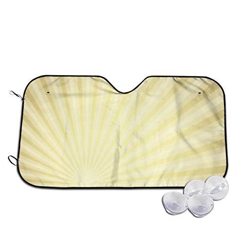 Voorruit Zonnekap Visor Voorruit Glas Voorkomen De Auto Van Verwarming In Oud Papier Met Goud Doorschijnende Stralen Aangepast