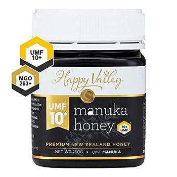 Le miel de Manuka classifié UMF 10+ (MGO 263+) vient des forêts non contaminées de la Nouvelle-Zélande. Le miel de Manuka Happy Valley UMF est certifié par de laboratoires pour le classement UMF 10+, équivalent au methylglyoxal (MGO) 263+ Le UMF est ...