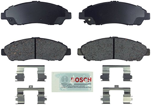 Bosch BE1280H Blue Disc Brake Pad Set with Hardware for Select Acura MDX, ZDX, and Honda Pilot Vehicles - FRONT