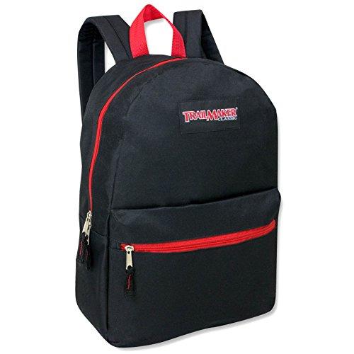 """17"""" Trailmaker Backpack Bookbag - red Zipper"""