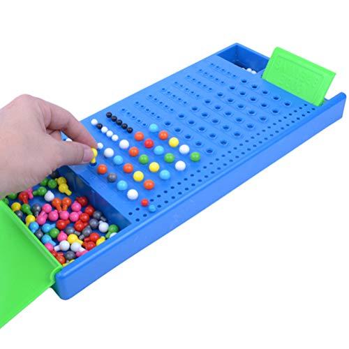 Amiispe JTLB Intellektuelles Entwicklungs-Brettspiel Schreibtisch Spiel Klassischer Masterman Code Finder Strategiespiel Denkspiel Knobelspiel Brettspiel