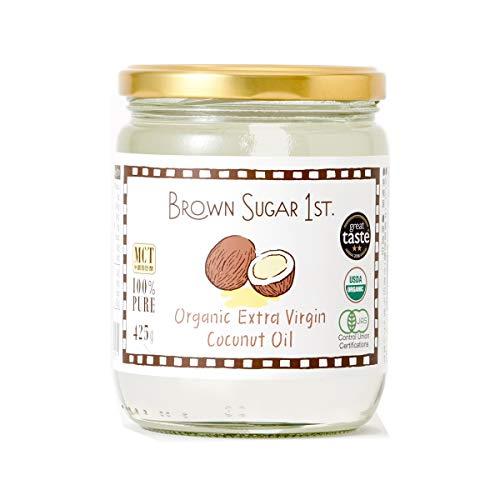オーガニック エキストラバージン ココナッツオイル (有機 化学調味料無添加 砂糖不使用 100% 天然 非加熱 中鎖脂肪酸 ブラウンシュガーファースト)