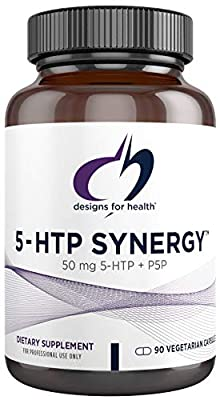 Designs for Health 5-HTP 50mg Capsules with Vitamin B6 (P-5-P) - 5-HTP Synergy (90 Capsules)