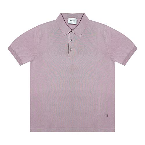 Dondup UM986M00699EPT - Polo para hombre, color gris claro, de malla fina de puro algodón Rosa 50