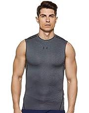 Under Armour UA HeatGear Armour mouwloos functioneel shirt voor heren, comfortabele tanktop met compressiepasvorm