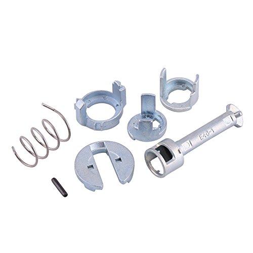 Deurslot Barrel Repair Kit, Linksvoor Rechts Deurslot Cilinder Reparatie Kit Vervangende Onderdelen voor BM W E46 3 Series 1998-2005