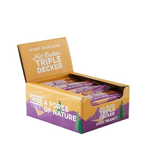TRIBE Plant Protein Bars - Choc Peanut Triple Decker - Vegan, Gluten & Dairy Free Bar (12 x 40g)