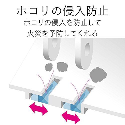 『エレコム 電源タップ 雷ガード 個別スイッチ ほこりシャッター付 6個口 2.5m ブラック T-K6A-2625BK』の3枚目の画像