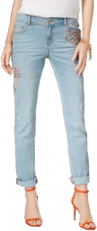 INC International Concepts Embroidered StraightLeg Jeans (Indigo, 16)