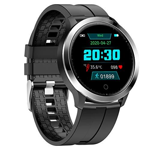Smartwatch, Orologio da Polso Fitness, misurazione della Temperatura corporea HR BP Sport Impermeabile Smart Watch IP67 Monitor Sonno Impermeabile con cardiofrequenzimetro per iPhone Android