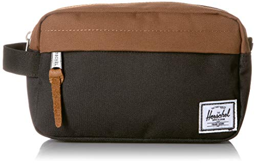 Bolsito Neceser Herschel Chapter Travel Kit Black Saddle Brown