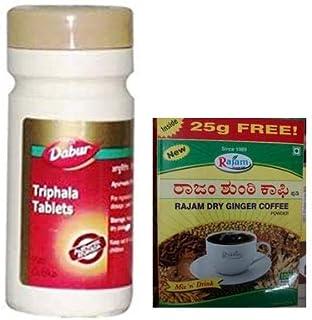 Dabur Triphala Tablets 60 Tablets (Ayurvedic), Rajam Dry Ginger Coffee Powder - 125g