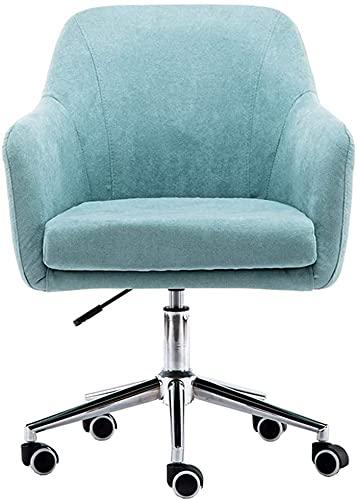 Silla de Oficina de Oficina 360 ° Silla de Escritorio de computadora giratoria con Espalda Media, sillas de Oficina cómodas Ajustables con Brazo, para Trabajo/tocador/Maquillaje/reunirse