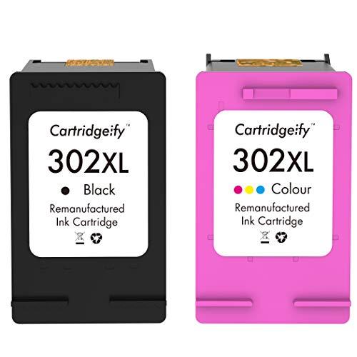 Cartridgeify 302XL Compatible avec HP 302 302XL Cartouches d'encre Multipack, pour HP Officejet 3830 3831 4650, Deskjet 1110 2130 2132 3630 3632 3637, Envy 4520 4524 4527