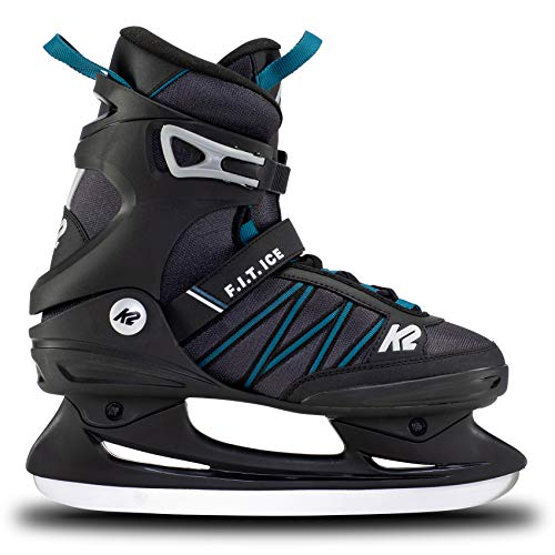 K2 Skates Herren Schlittschuhe F.I.T. Ice — Black - Blue — EU: 42.5 (UK: 8.5 / US: 9.5) — 25E0030