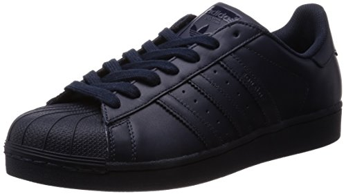 adidas adidas Superstar Foundation Herren Sneakers, Blau (Night Navy/Night Navy/Night Navy), 44 2/3