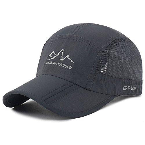 Estwell Cappello da Baseball, Uomo Donna Regolabile Berretto da Baseball Impermeabile Golf Cappellino Casuale Sport all'Aria Aperta Cappello
