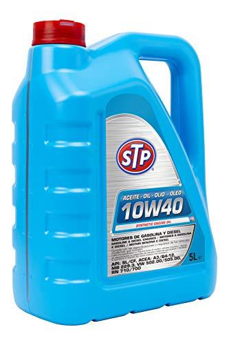 STP STA10W405L Huile 10W40 Essence & Diesel Moteurs API SL/CF, ACEA: A3/B4-12, MB 229.3, 502.00/505.00, RN 710/700, 5 Litros
